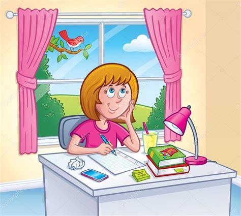 que faire dans sa chambre fille fait ses devoirs dans sa chambre
