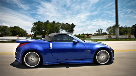 nissan coupe convertible nissan 350z roadster wallpapers hd convertible blue