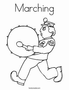Marching Coloring Page - Twisty Noodle