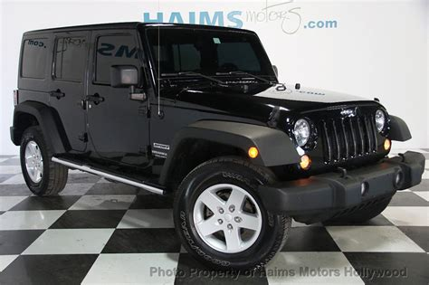 2014 Jeep Wrangler Unlimited Sport 2014 used jeep wrangler unlimited sport at haims motors