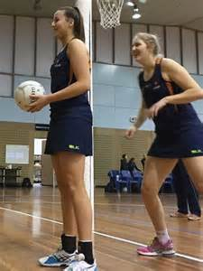 Tall Netballers Put Through Their Paces The Australian