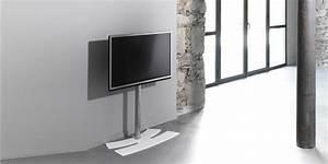 Pied Mural Tv : erard lux up 900 m blanc supports tv sur pied sur easylounge ~ Teatrodelosmanantiales.com Idées de Décoration