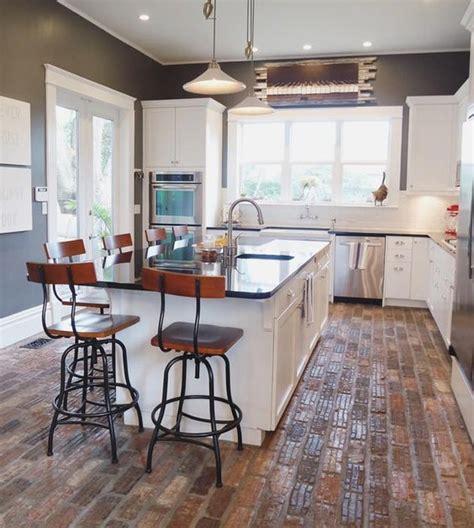 brick kitchen floor ideas   obsessing