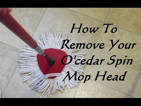 How To Remove Your O'cedar Spin Mop Head  Youtube