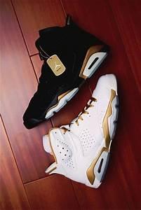 Shoes: jordans, gold, black, white, tumblr shoes, sneakers ...