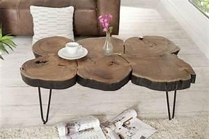 Table Basse Tronc : table basse tronc d 39 arbre projet diy simple r aliser ~ Teatrodelosmanantiales.com Idées de Décoration