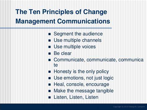 Change communication strategy