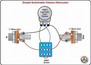 Electrical Wiring   Circuit Diagram Guitar Tips Jack With A Light Switch Wiring Jack With A