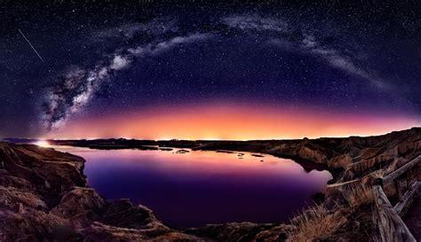 Wallpaper Landscape Bay Galaxy Water Nature
