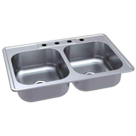 home depot kitchen sinks top mount glacier bay top mount 33 in 4 bowl kitchen