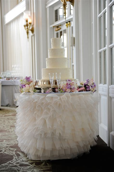 One Of My Favorite Cake Table Linens  Provided By I Do