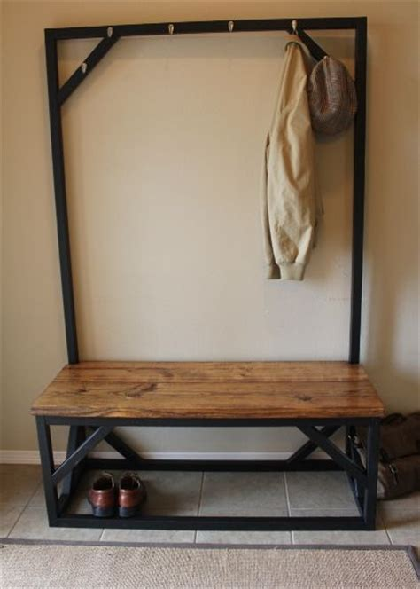 build  coat rack  bench woodworking projects