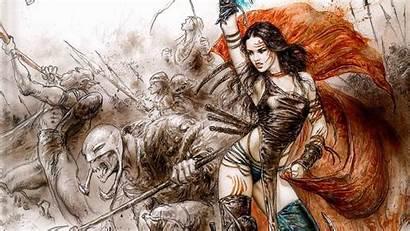 Royo Luis Warrior Female Wallpapers Background Fantasy