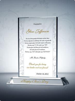 happy bosss day plaque diy awards