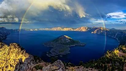 Lake Crater Rainbow Bing Oregon