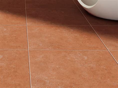 porcelain stoneware floor tiles with terracotta effect