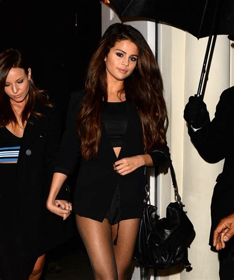 Selena Gomez Shows Off Skimpy Outfit for Night Out in London - Shoes Post