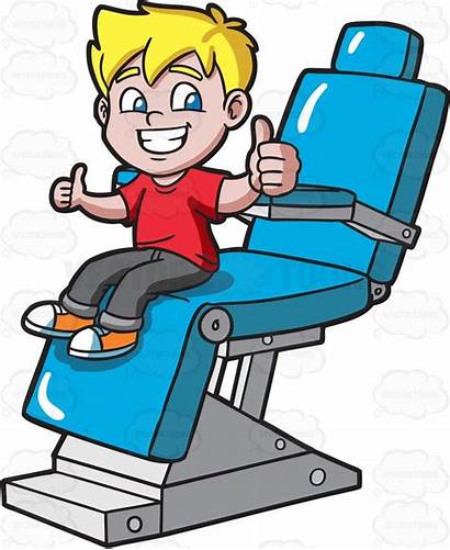 Dentist Clipart Teeth Happy Boy Cleaning Scary