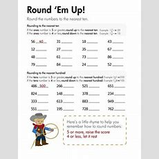 Rounding Round 'em Up!  Worksheet Educationcom
