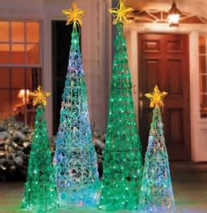clearance outdoor lighted cone tree yard decor 2 colors sizes ebay