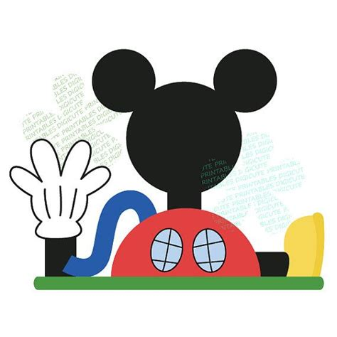 Mickey Mouse Clubhouse Clipart Disney Mickey Mouse Clubhouse Digital Clip Aidens
