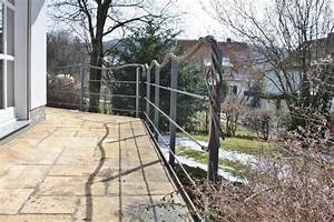 Geländer Mit Seil : dieses terrassengel nder hat als handlauf ein seil aus kupfer ~ Markanthonyermac.com Haus und Dekorationen