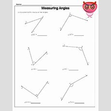 Using A Protractor Worksheet  Geometry  Free Math Worksheets, Worksheets, Protractor