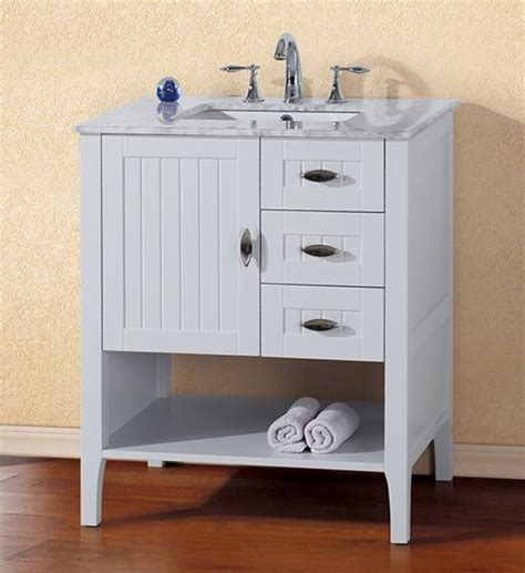 29 inch vanity cabinet bella 29 inch white finish bathroom vanity