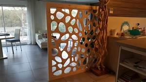 Separation Piece En Bois : s paration de pi ce amovible en bois avec allure et bois ~ Teatrodelosmanantiales.com Idées de Décoration