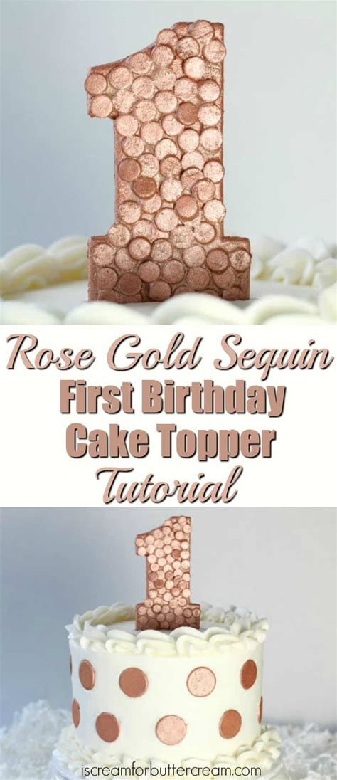 diy cake topper first birthday 3 diy first birthday cake toppers for girls i scream for
