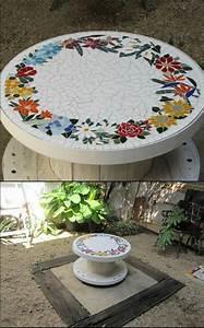 Mosaik Selber Machen : mosaik im garten ideen f r mosaiktisch und gartendeko ~ Whattoseeinmadrid.com Haus und Dekorationen