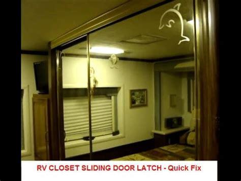 modifying rv latch for closet sliding door fix