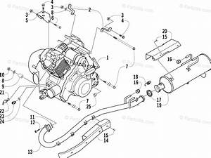 Arctic Cat Atv 2004 Oem Parts Diagram For Engine And Exhaust