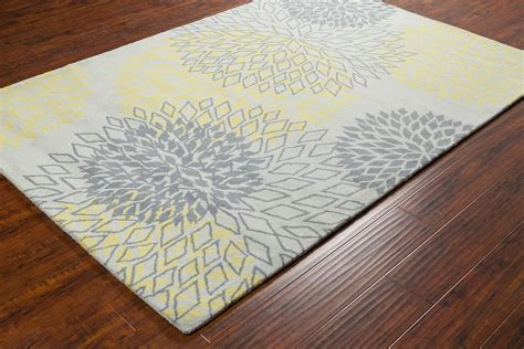 gray and yellow area rug stella collection tufted area rug in grey yellow