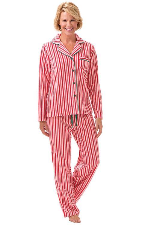 candy cane fleece womens pajamas  fleece pajamas