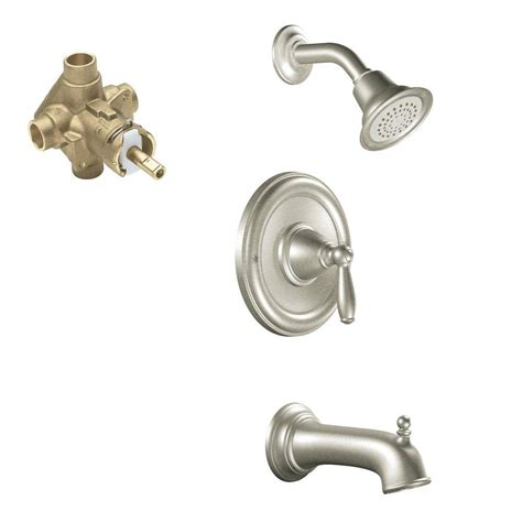 moen brantford single handle  spray tub  shower faucet