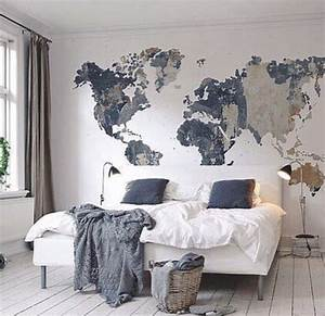 Cool map mural see various wall designs at http