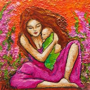 Original Fine Art Textured Painting Mother Mom by ...