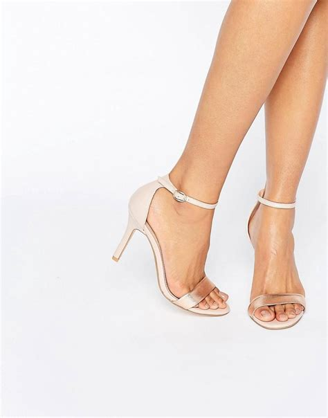 Dune Hydro Two Part Blush Heeled Sandals In Pink Lyst
