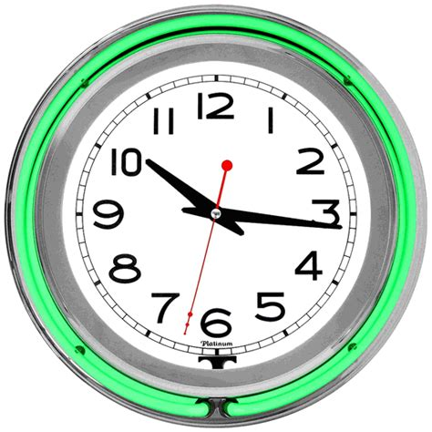 daft gadgets cool clocks neon green wall clock