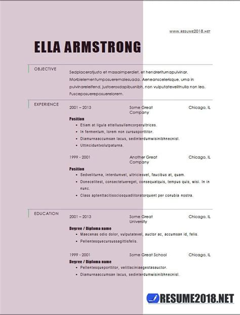 Combination Resume Template by Resume Format 2018 20 Free To Word Templates