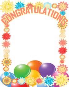 Congratulations Clip Art Frame