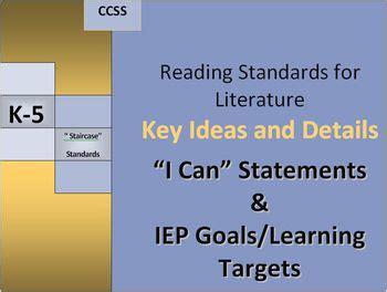 rl key ideas  details   iep goalslearning