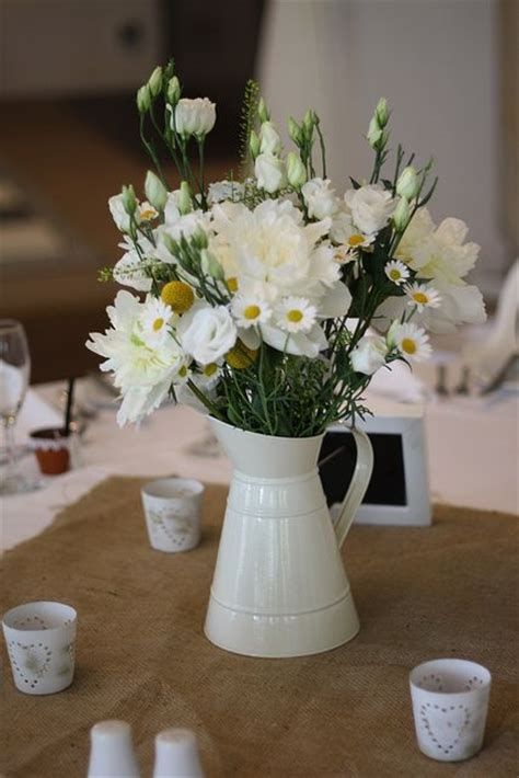 country style table centre wedding  passion  flowers