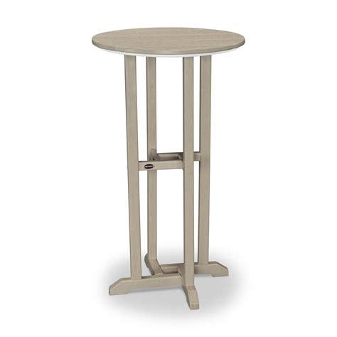 polywood outdoor patio bar height dining table rbt124sa