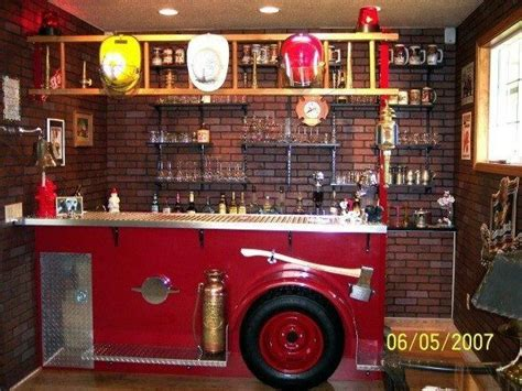 A Fireman's Mancave. All They Need Is Some Custom