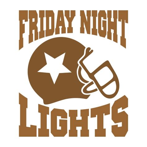 friday night lights font friday night lights football svg cuttable design