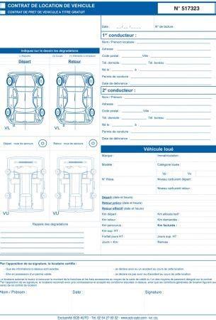 modele contrat de location voiture photo modele contrat location vehicule