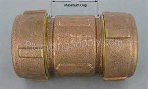 Dresser Couplings For Galvanized Pipe by Bronze Compression Dresser Type Fittings For Iron Or