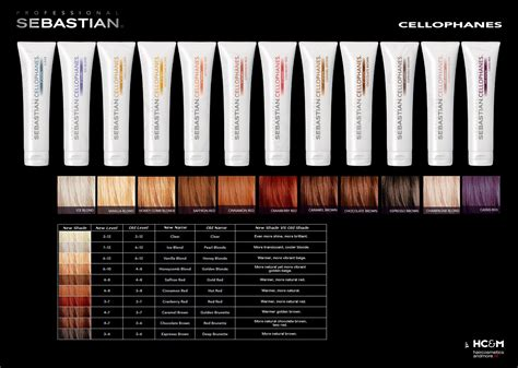 Sebastian Professional Cellophanes Color Chart.